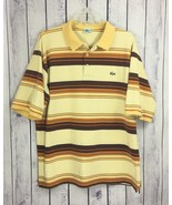 Lacoste Mens Shirt Size 9 4X XXXXL Short Sleeve Striped Rugby Polo Style... - $22.99