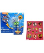 Paw Patrol Mighty Pups Rocky Figure with Light-up Badge and Paws with St... - $14.95