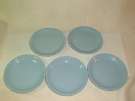 Mid century homer laughlin skytone dessert cookie plates 5 pcs VG blue 1950's - $35.00