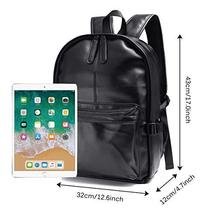 Vintage PU Leather Backpack, OURBAG Outdoor School College Bookbag fit Laptop Co image 4