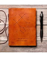 Gemini Zodiac Handmade Leather Journal - $38.00