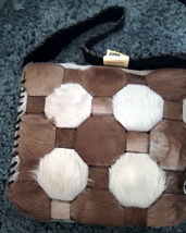 Western Hair On Cowhide Ladies Purse NEW Suede Back Whipstitch  image 1
