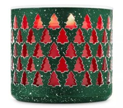 Bath & Body Works Speckled Tree Large 3 Wick Holiday Candle Holder Sleeve - $14.71