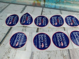 8 Official '04 Kerry Edwards America Presidential Campaign Stickers Memo... - $15.83