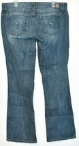 Guess Jeans Women's Daredevil Boot Cut Blue Denim Stretch Size 34 image 2