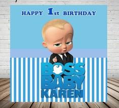 Boss Baby 1st Birthday Party Backdrop Photography Cartoon Boys Photo Dec... - $14.84+