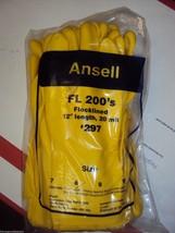 """ANSELL Latex Gloves Flock lined FL 200's #297 12"""" Length 20 mil (1 DOZEN... - $12.19"""