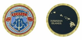 "25TH 2016 RIMPAC HAWAIIAN ISLANDS DOD 1.75""  CHALLENGE COIN - $16.24"
