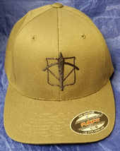 CIA NCS / DO SAD SOG Black / White Arts Embroidered OD Green FlexFit Hat - $37.49
