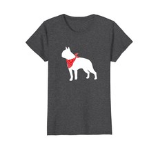 Boston Terrier Wearing Red Bandana Dog Silhouette T-Shirt - $19.99+