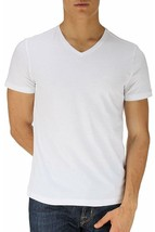 Hugo Boss Men C-Canistro Designer Slim Fit Cotton V-Neck T-Shirt White 5... - $48.71