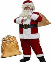 Obosoyo Men's Deluxe Santa Suit 10pc. Christmas Ultra Velvet Adult   (Se... - $131.66