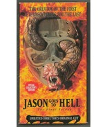Jason Goes to Hell the Final Friday Unrated Director Cut VINTAGE VHS Cas... - $74.65