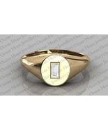 14K Gold Certified 0.10Ct Baguette Cut Natural Diamond Engagement Unisex Ring  - $309.00