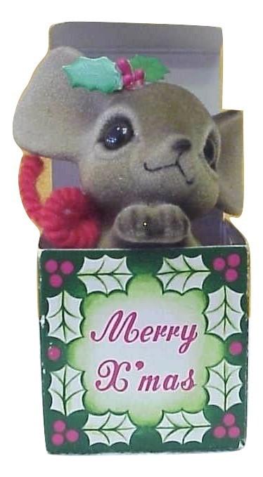 Josef Original Fuzzy Christmas Mouse in Box - $23.00