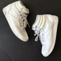 Reebok Classic Womens 5.5 Shoe High Top Freestyle Strap White Vintage Re... - $59.35