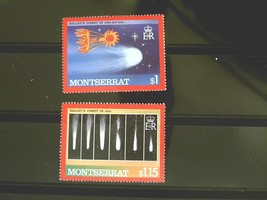 Montserrat Set of 2 Stamps-Halleys Comet-MINT  Free Shipping MNH #700115 - $1.73