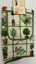 "Printed Kitchen Apron w/pocket, 20"" x 30"", HERBS, ROSEMARY, MINT, LAVEND... - $9.89"
