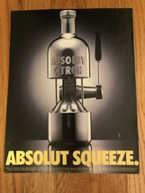 Absolut Squeeze Juice Press Original Magazine Ad - $2.49