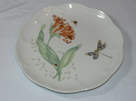 "Lenox Butterfly Meadow Dragonfly by Laure Le Luyer salad Plate deco 9 1/8"" - $18.69"