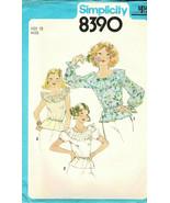 Simplicity Sewing Pattern 8390 Sz 12 Blouse w/Ruffle Collar Elastic Neck... - $9.89