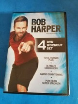 Bob Harper 5 DVD Workout Set Total Trainer Plus cardio conditioning pure... - $14.01