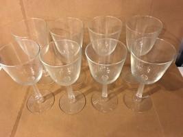 Wine Glass Lot Of 8 Glasses Unique Stem - $29.70