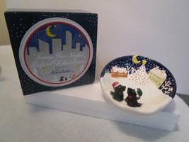 Noritake CANDY DISH BOWL Scottie Dog, Night Before Christmas Village NIB Vintage - $27.77