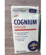 60 Count Natrol Cognium Focus, Brain Health & Focus Supplement (Damaged ... - $11.65