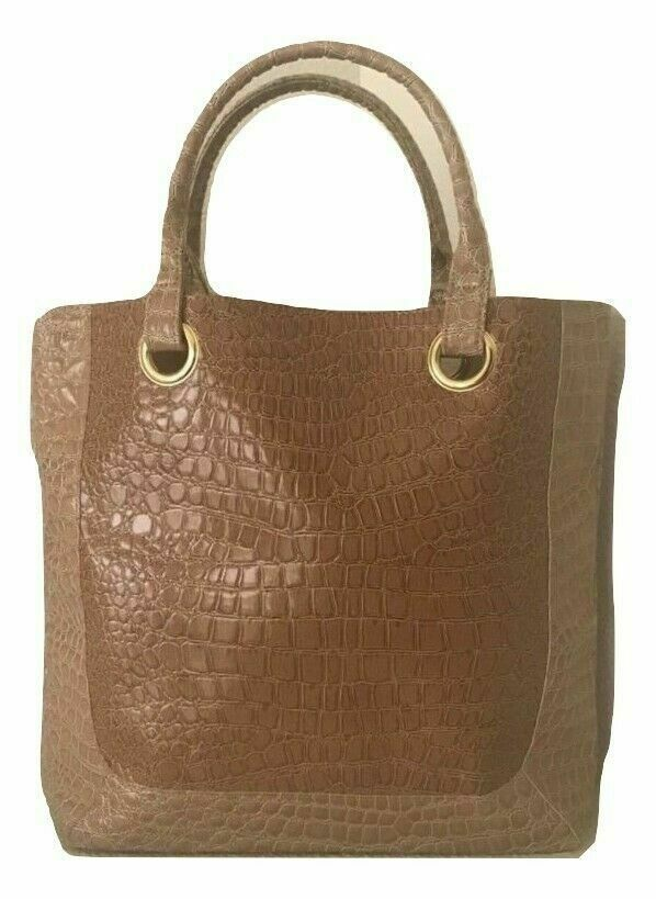 Primary image for New Estee Lauder Caramel Croc Pattern Tote Bag
