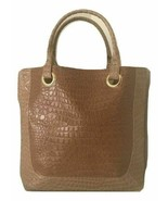 New Estee Lauder Caramel Croc Pattern Tote Bag - $12.86