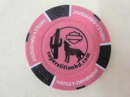 Superstition Harley Davidson Poker Chip Arizona AZ pink black Apache Jun... - $3.95