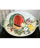 "❤️CWC Fruits Handpainted Italian Ceramic Serving Plate 26"" x 18"" GREAT! ... - $141.54"