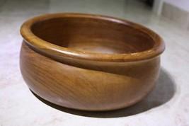 """Vintage Wooden Salad Bowl 10"""" Rustic Hewn Carved Decorative - $39.59"""