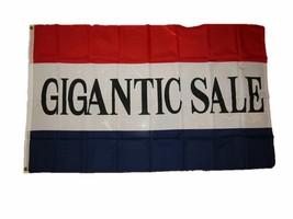 3x5 Advertising Gigantic Sale Flag 3'x5' Banner Brass Grommets - $8.88