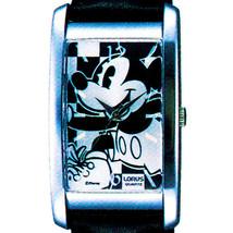 Mickey Disney, Seiko Lorus New Rectangular Unworn Silver Dial Watch, RZK... - $143.40