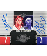 2003 UPPER DECK DUAL SIGNATURES JOHN SALMONS AND GERALD WALLACE #137 (MR) - $197.99