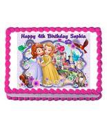 Sofia the First Princess Edible Cake Image Cake Topper - $8.98+