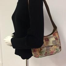 Vintage Small FOSSIL Shoulder Bag Printed Leather Organizer - $27.91