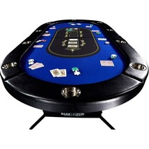 Poker Table Casino Texas Texas Holdem 10 Player No Assembly Required Fol... - $313.22