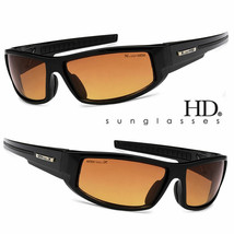 Sport Wrap Hd Night Driving Vision Sunglasses Black High Definition Glasses L# K - $7.91+