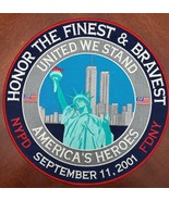 """Honor The Finest & Bravest Sept 11th 2001 NYPD, FDNY  12"""" Embroidered Pa... - $24.95"""