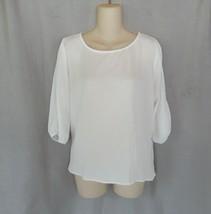 Monteau top blouse  Large  off white crochet back cold shoulder - $11.71