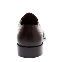 Belgian Cap Toe Men's Hand Made Mezlan Brown Leather Shoes image 5