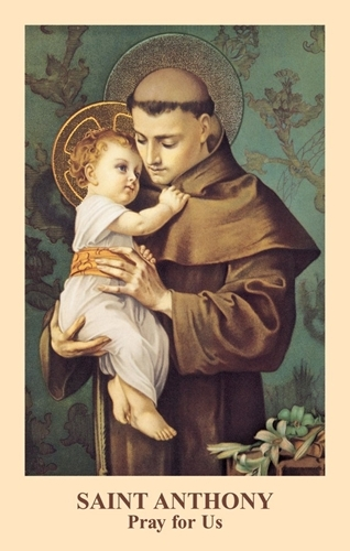 Saint Anthony Prayercard ( 5 Packs of 100) by Anonymous