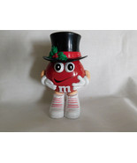 M Ms Red Top Hat Christmas Mini Candy Dispenser 3 1/2 Inches Tall - $2.99