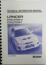 Mitsubishi Lancer Evo Iv / V Technical Information Manual Reprinted - $26.77