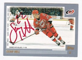 S EAN Hill Autographed Card 2000-01 Topps Carolina Hurricanes - $3.98