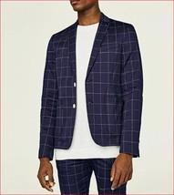 new ZARA MAN men dress jacket blazer 2922/310/400 blue white sz USA 38 - $42.83