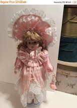 """Vintage 1980s 17"""" Porcelain Doll with Box - $18.00"""